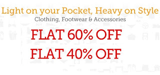 [Hurry!! New Stock] Flat 60% & Flat 40% OFF on Clothing, Footwear & Accessories @ Homeshop18