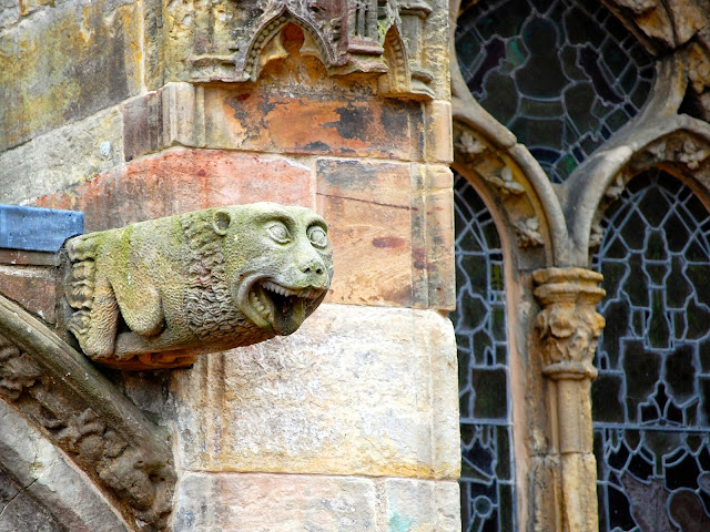 Waterspout gargoyle at Rosslyn Chapel