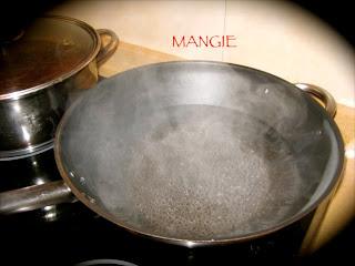 Agua del pegote gachas pimentón