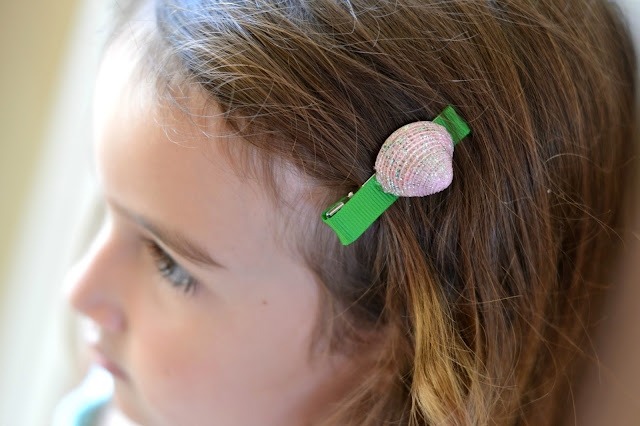 Mommy Testers DIY Little Mermaid shell barettes #DisneyPrincessPlay #shop #cbias