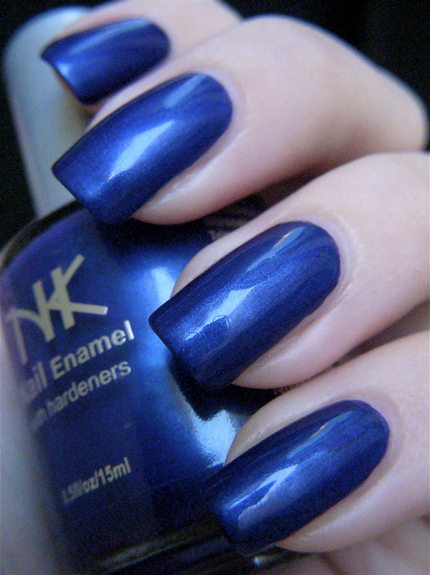 I Drink Nail Polish: NK Midnight Blue & NK Mystical