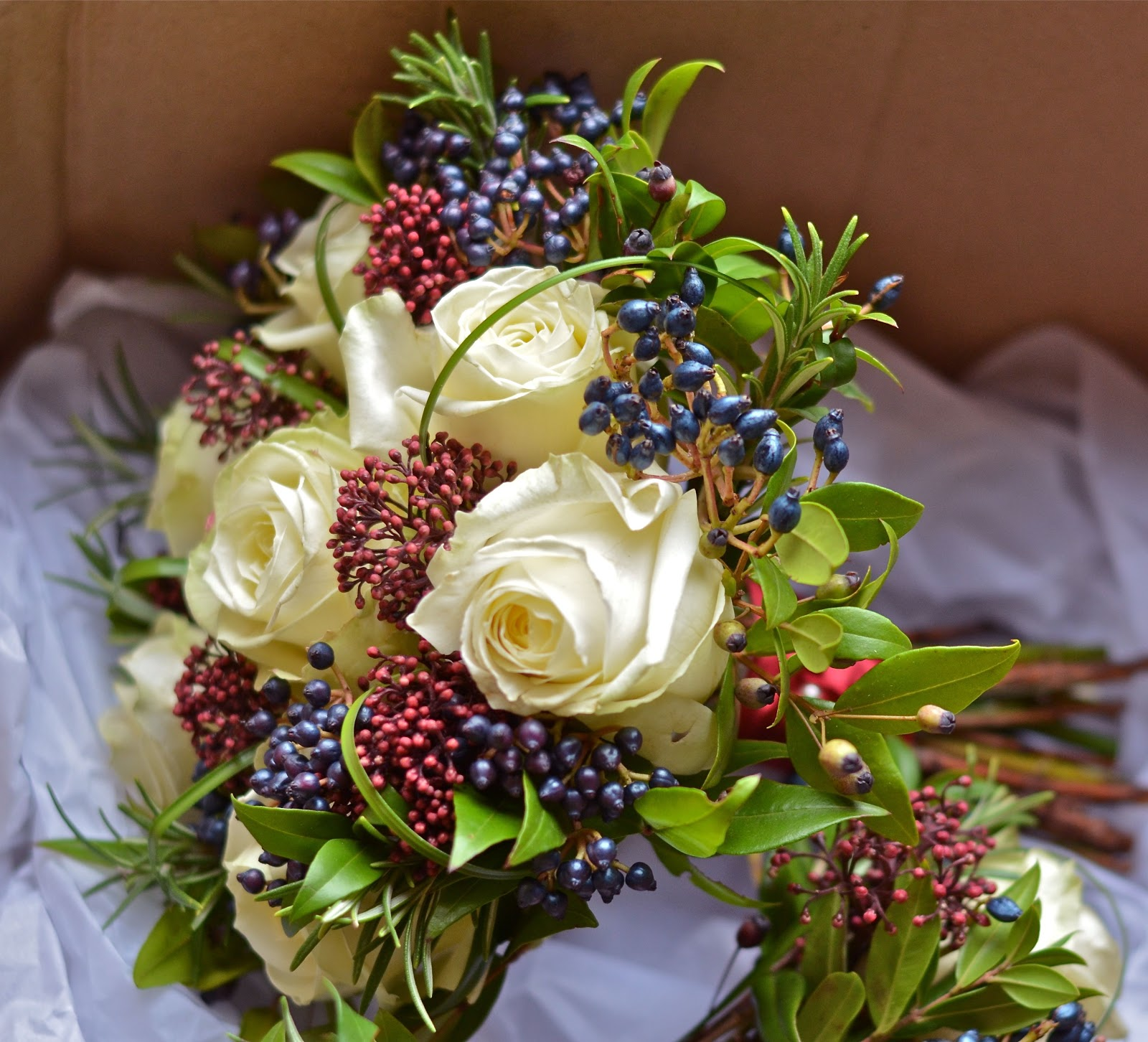 Wedding Flowers Blog: Nikki\'s Winter Wedding Flowers, Marriott Meon ...