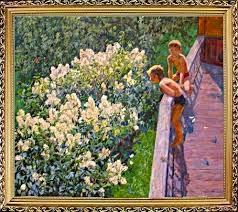 """Картина  """"Летний день. Цветет Сирень"""""""