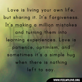 Love is living your own life