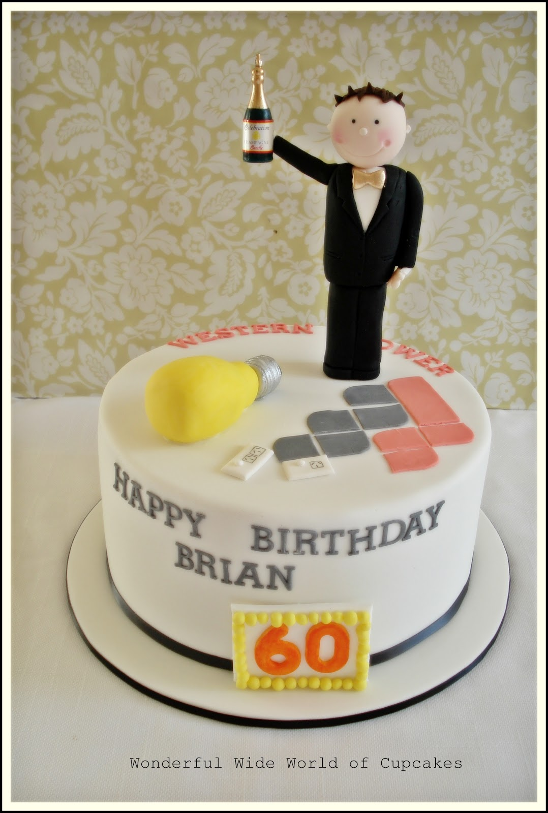 Wonderful World Of Cupcakes 60th Birthday Cake