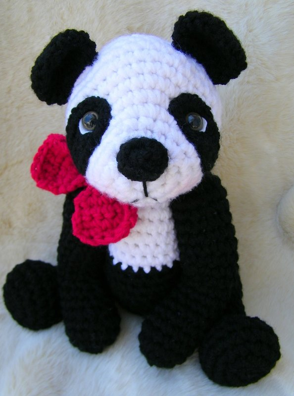Amigurumi Panda Au Crochet : Teris Blog: New Panda Bear Crochet Pattern