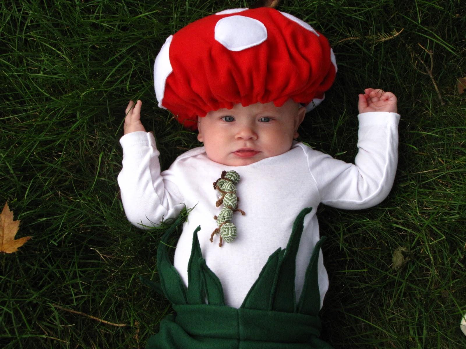 Wispy house diy baby mushroom halloween costume - Disfraces de halloween bebes ...