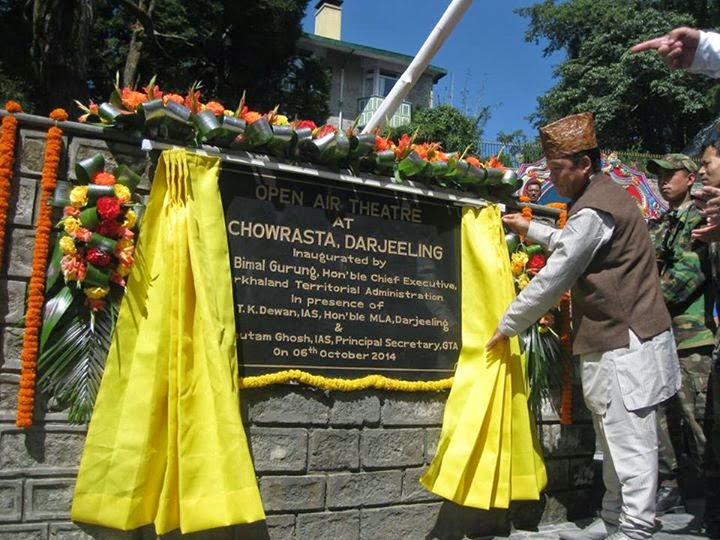 Bimal Gurung inaugurates Open Air Theater at Darjeeling Chowrasta
