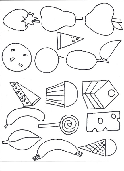 Healthy Food Plate Coloring Page