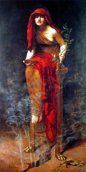 Pendeta Perawan, Pythia, peramal yunani