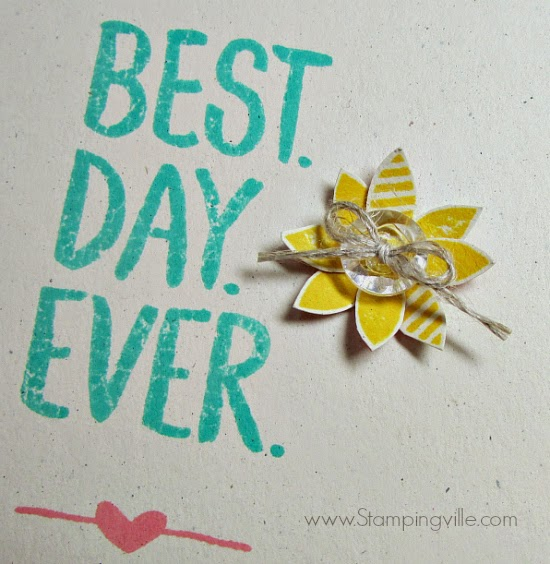 Cute + easy flower using Best Day Ever stamp set. #StampinUp #cardmaking #papercrafts