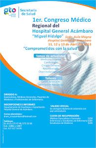 1er. Congreso Médico Regional del Hospital General de Acámbaro