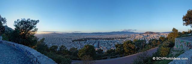 Twilight over Athens, Greece