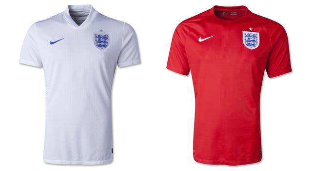 Camisetas selección Inglaterra Mundial 2014