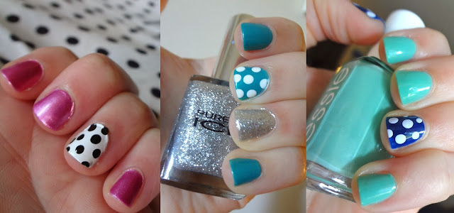 Polka Dots on Nails