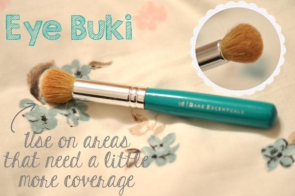 bareescentuals eye buki brush review