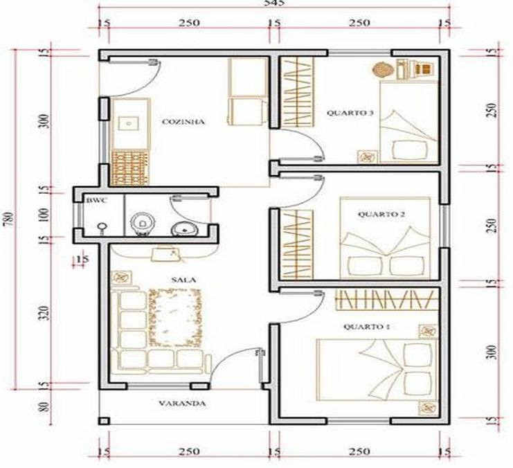 Amado Só Projetos Grátis: Projeto de uma casa com 40 metros quadrados EQ07