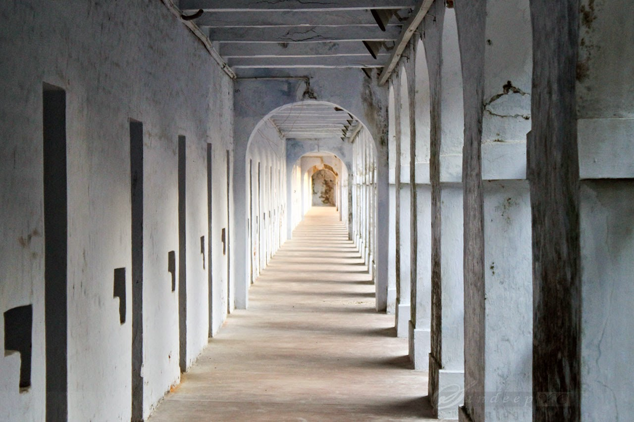 Typical view of the Cellular jail Corridors