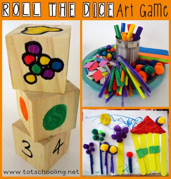 Roll the Dice Art Game for Kids