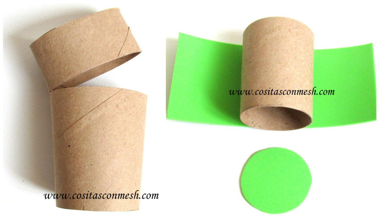 Manualidades navide as con ni os reciclando tubos de papel - Manualidades con papel navidenas ...