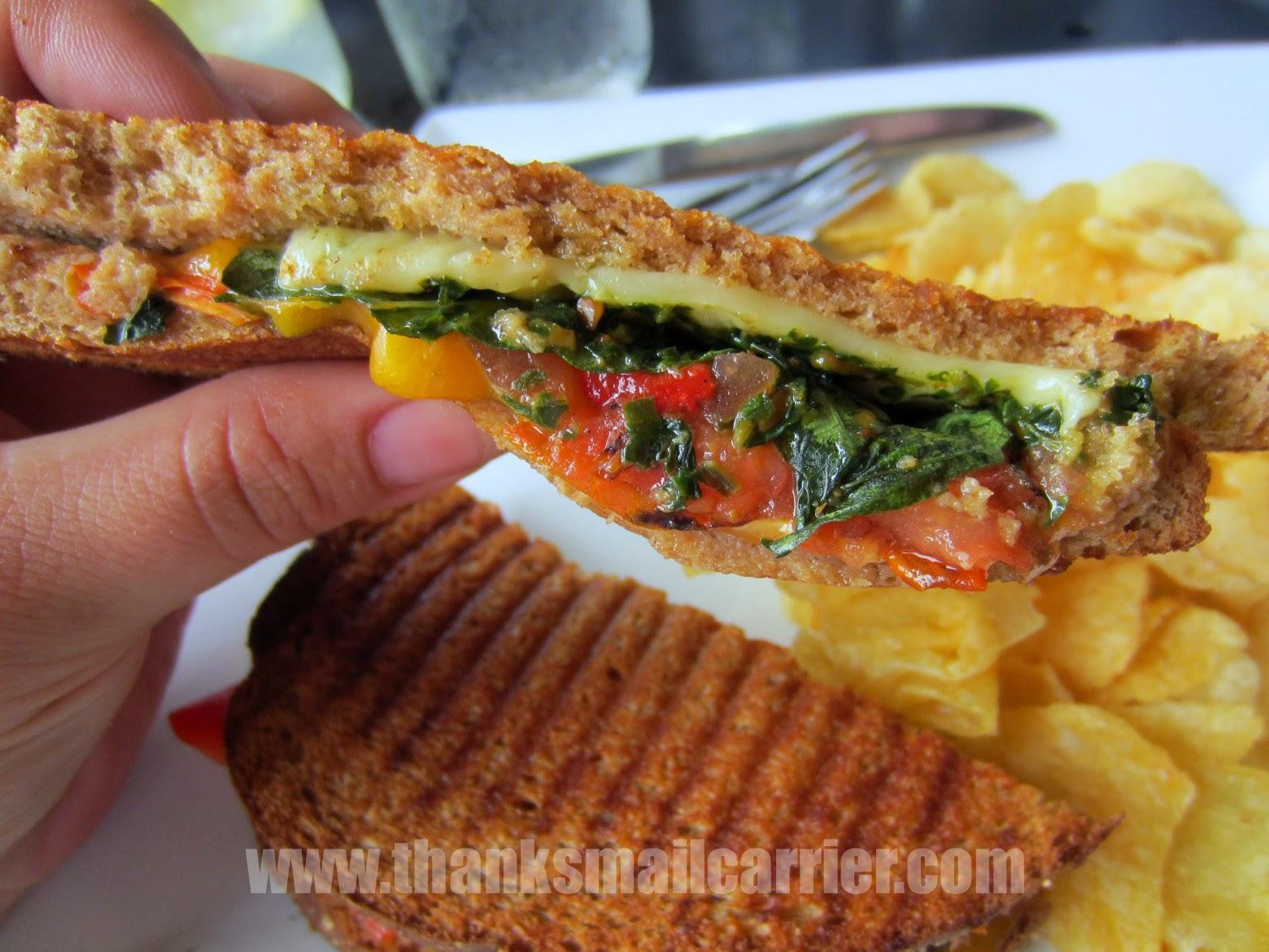 pesto sandwich