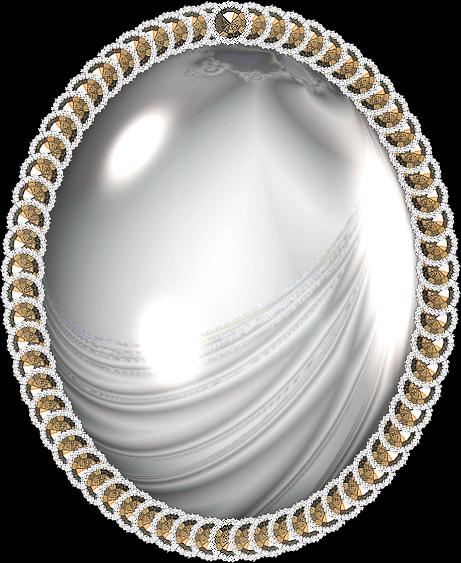 Molduras formato oval metal dourada prata floral for Molduras para espejos online