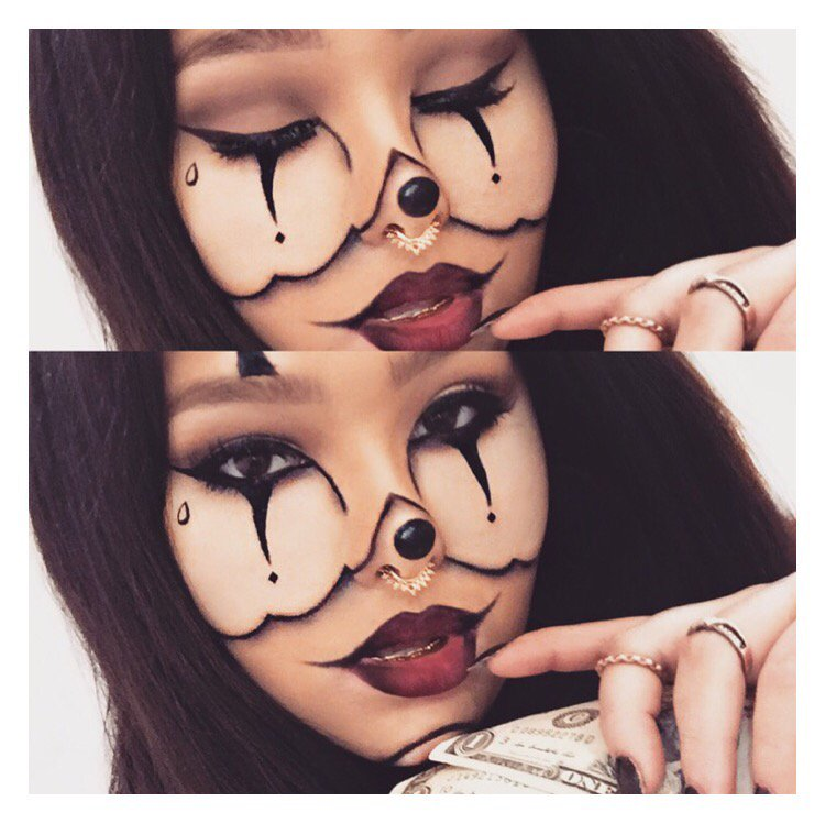 this look was 100 inspired by another artist who goes by chrisspy on yt so if you want to know how she did this look click here - Chrispy Halloween