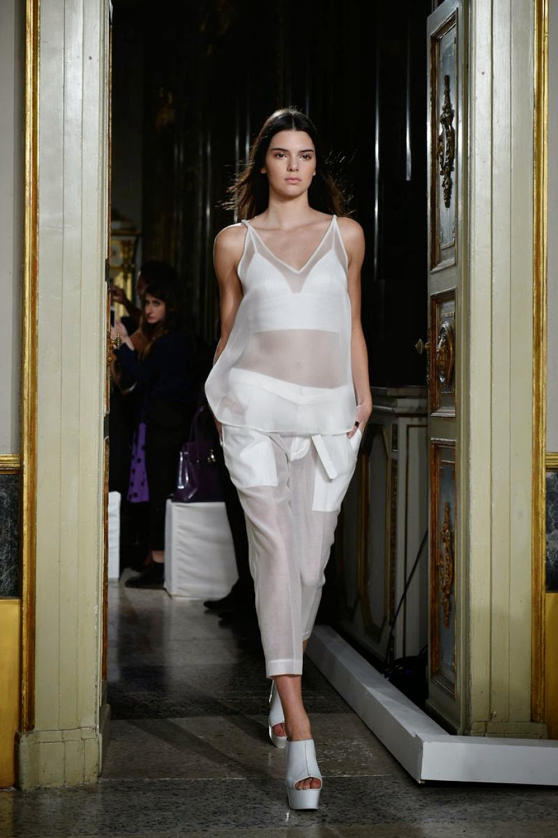 Kendall Jenner walks the Ports 1961 Spring/Summer 2015 Milan Fashion Week Show