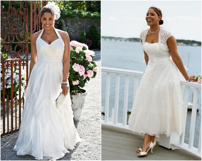 Fashion bride picks plus size bridal gowns for the full for Best wedding dresses for short fat brides