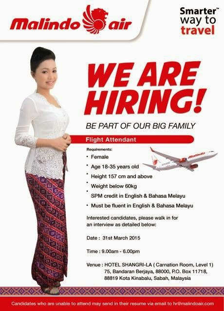 Fly Gosh Malindo Air Flight Stewardess Recruitment