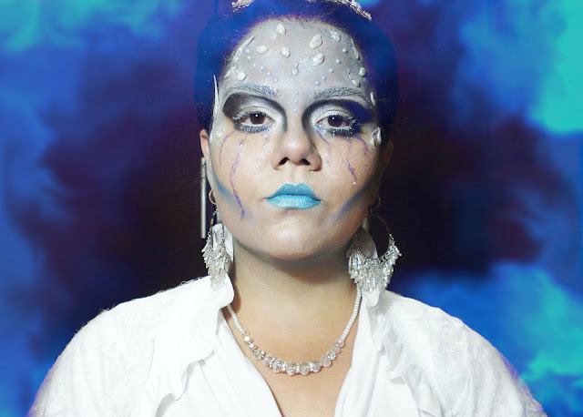 Maquiagem Ice Queen, halloween Rainha do Gelo