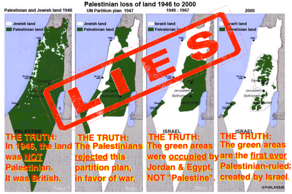 ProIsrael Bay Bloggers Maps Of Disappearing Palestine - Israel maps