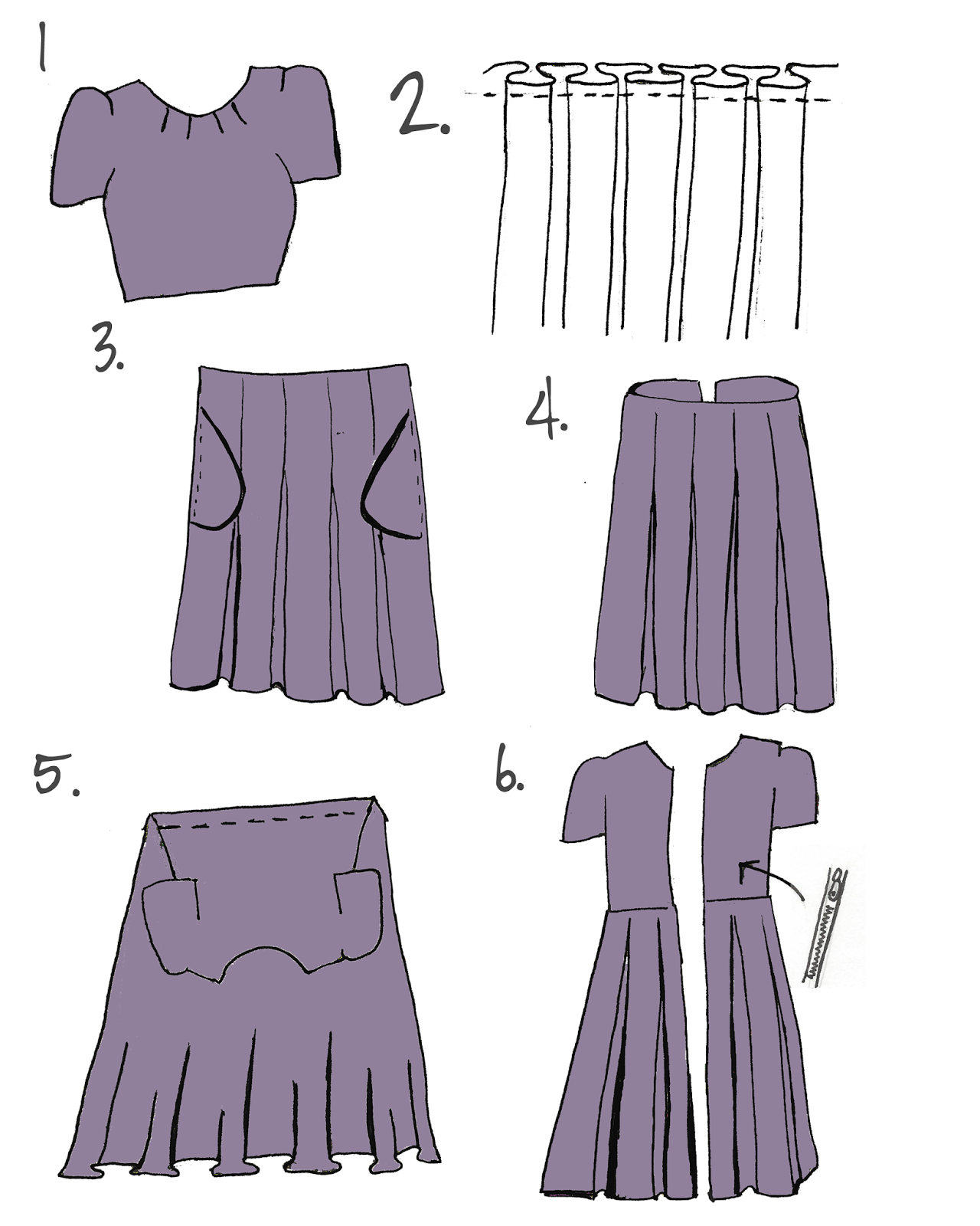 diy pleated dress a sewing tutorial
