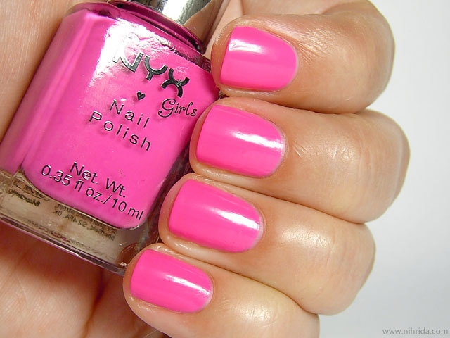 NYX Girls Nail Polish in Pink Strawberry