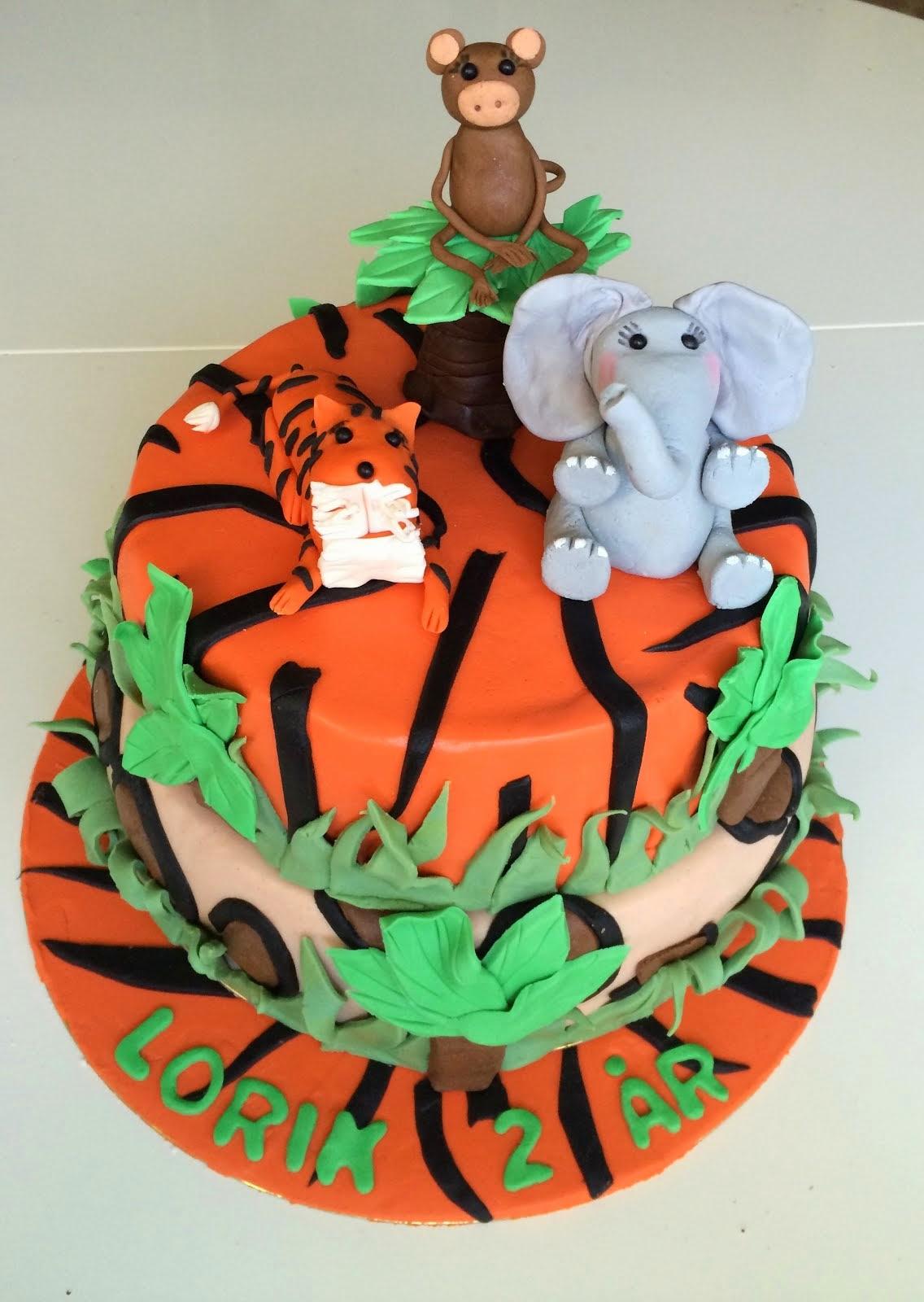 Djungeltårta med tigertema