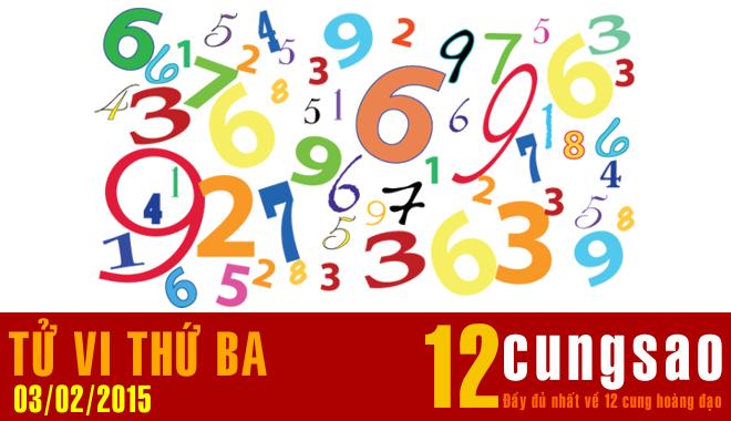 Tử vi Thứ Ba 3/2/2015 - 11 Thần Số hàng ngày