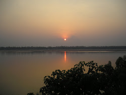 sunset, kratie