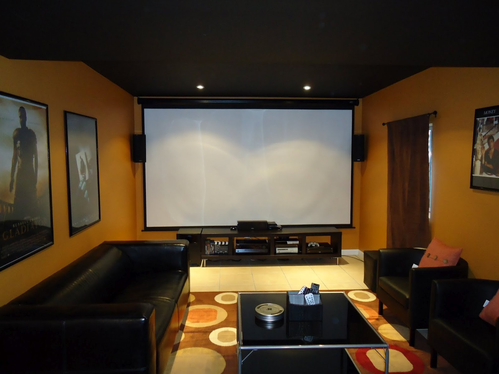ardent decor home theater. Black Bedroom Furniture Sets. Home Design Ideas