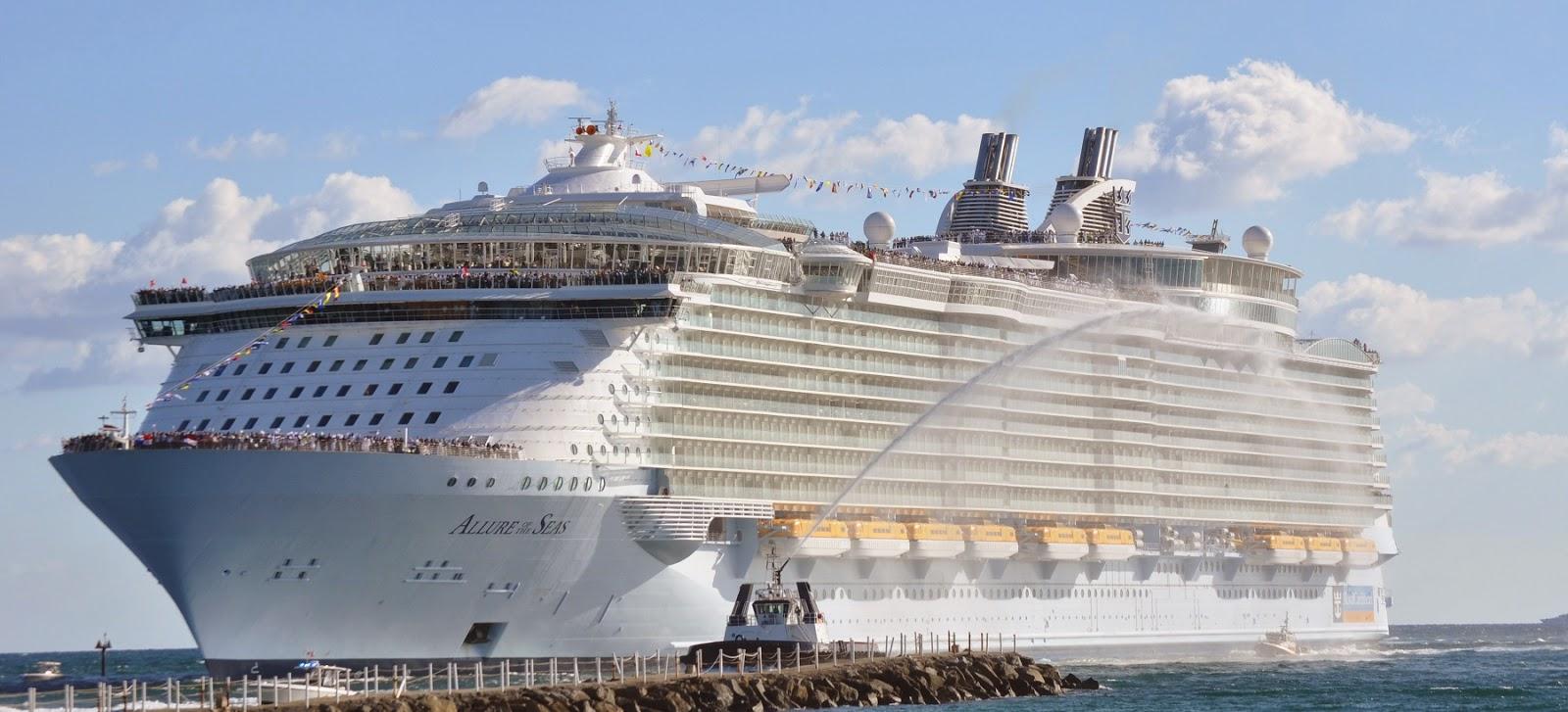"""El Crucero más grande del Mundo, el """"Allure of the Seas"""""""