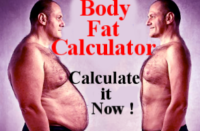 Body fat calculator for men