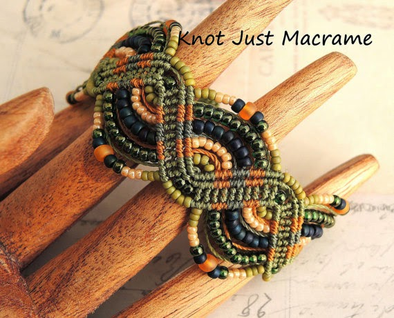 Giveaway:  Micro Macrame bracelet made by Sherri Stokey of Knot Just Macrame.