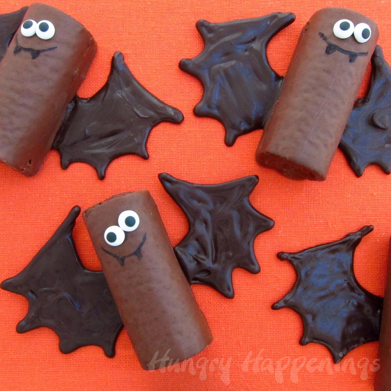 Chocolate snack cake bats hungry happenings halloween - Manualidades originales y faciles ...