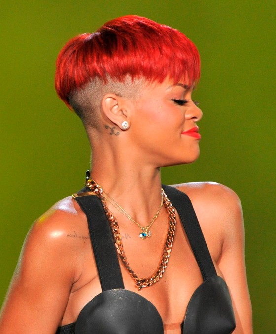 rihanna red hairstyles. Rihanna#39;s red hairstyles 2011