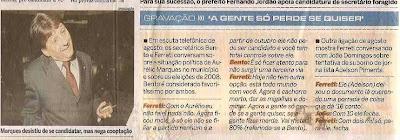 Bento e Ferreti falam de Aurélio Marques e Adelson