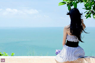 elegant girl back view Cover Photo For Facebook