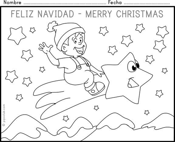 Actividades y ejercicios para infantil y primaria for Actividades de navidad para colorear