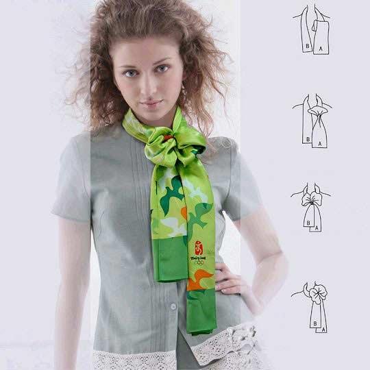 ношения платков на шее