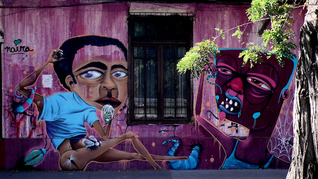 street art in santiago de chile barrio brasil arte callejero by piguan and naira