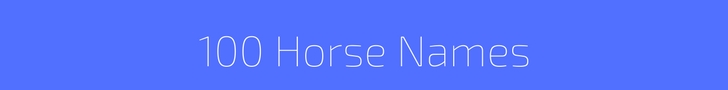 100 Most Popular Horse Names