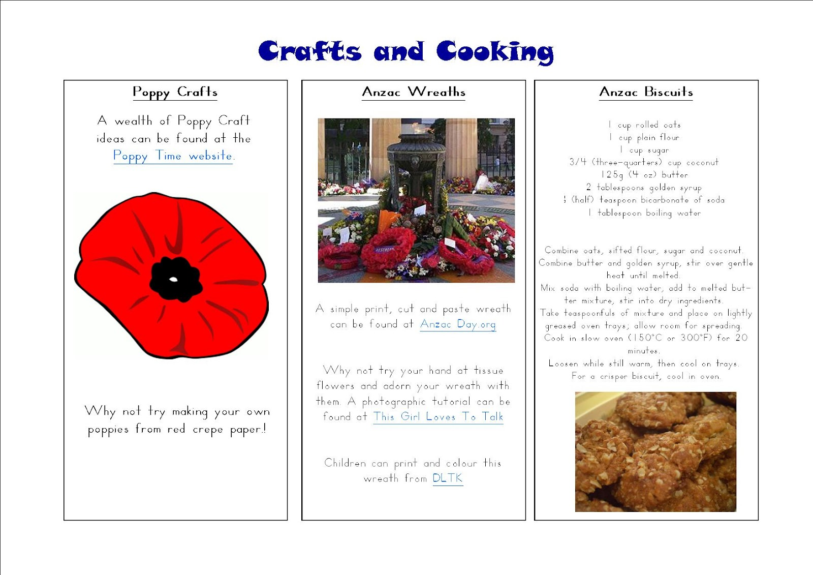 Anzac day activities for esl students